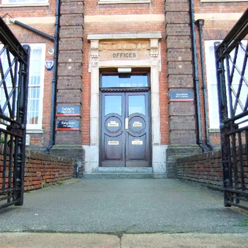 One of the entrances into Mobbs Miller House on Christchurch Road.