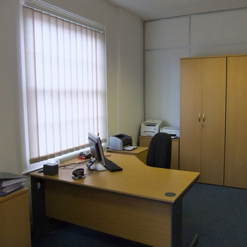 A mid sized first floor office. .